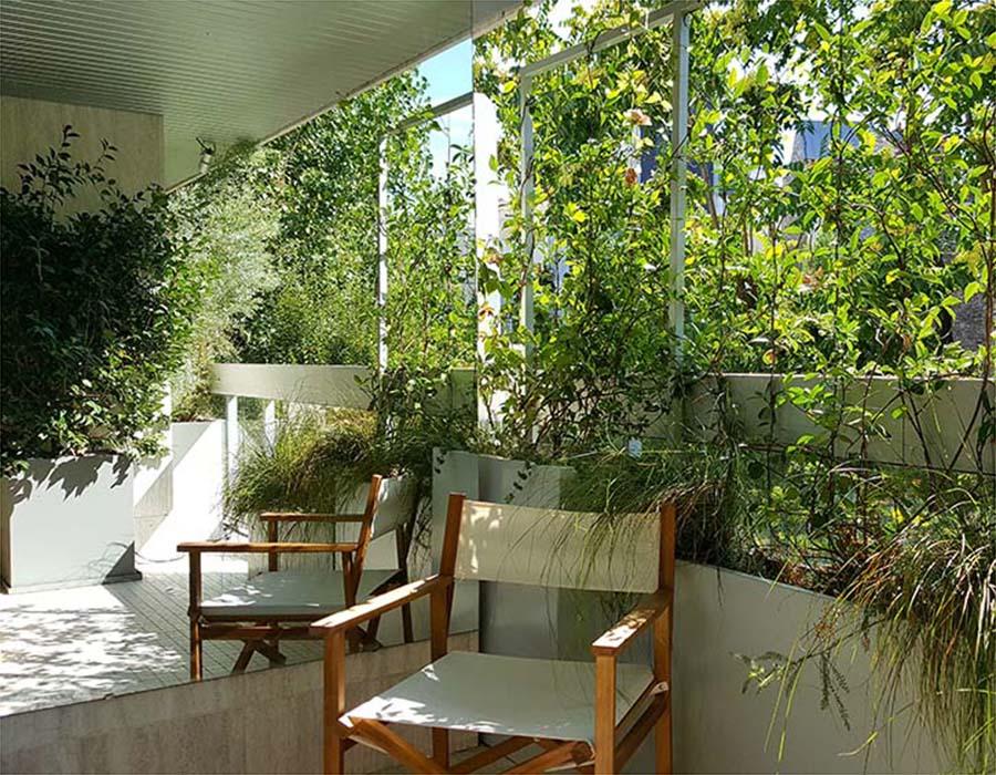 patio et de balcons en plein paris