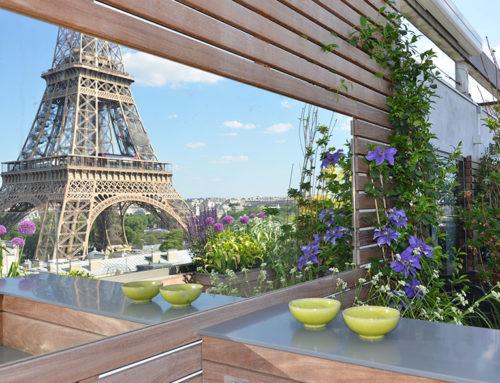 Aménagement d'une terrasse et d'une cuisine extérieure en plein Paris